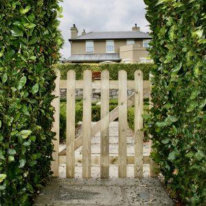 Wooden pale garden gate