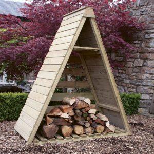 Wooden Triangular log store