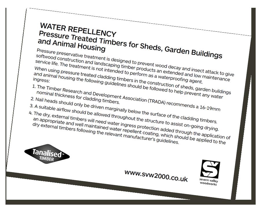 Water repellency information